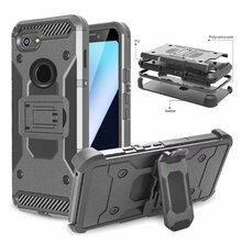 עבור גוגל פיקסל 3 כיסוי UYFRATE עמיד הלם Hybird חגורת קליפ הסיליקון מלא מגן שריון Defender Case עבור גוגל פיקסל 3 XL 3