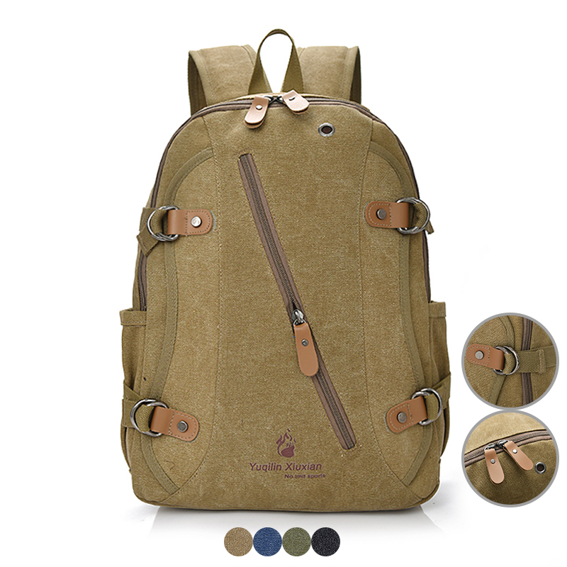 Vintage Men Backpack Student School Book Bag for Boy Rivet Design Casual Bagpack Laptop Bags Travel Bag Women Rucksack for Girls dispalang personalized geometric backpack for laptop notebook school bags for college students men s travel bag rucksack mochila