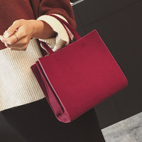 Korean Style Fashion Handbag Personality Leisure Joker Shoulder Bag Autumn And Winter New Woolen Flap Mini PU Messenger Bag