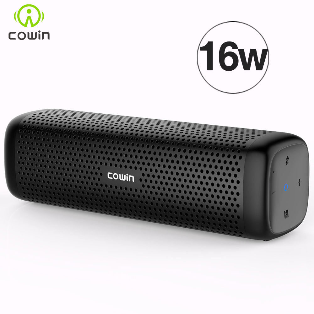 Cowin Microphone Bluetooth-Speaker Stereo Column Mp3-Player Subwoofer Bass Outdoor Mini