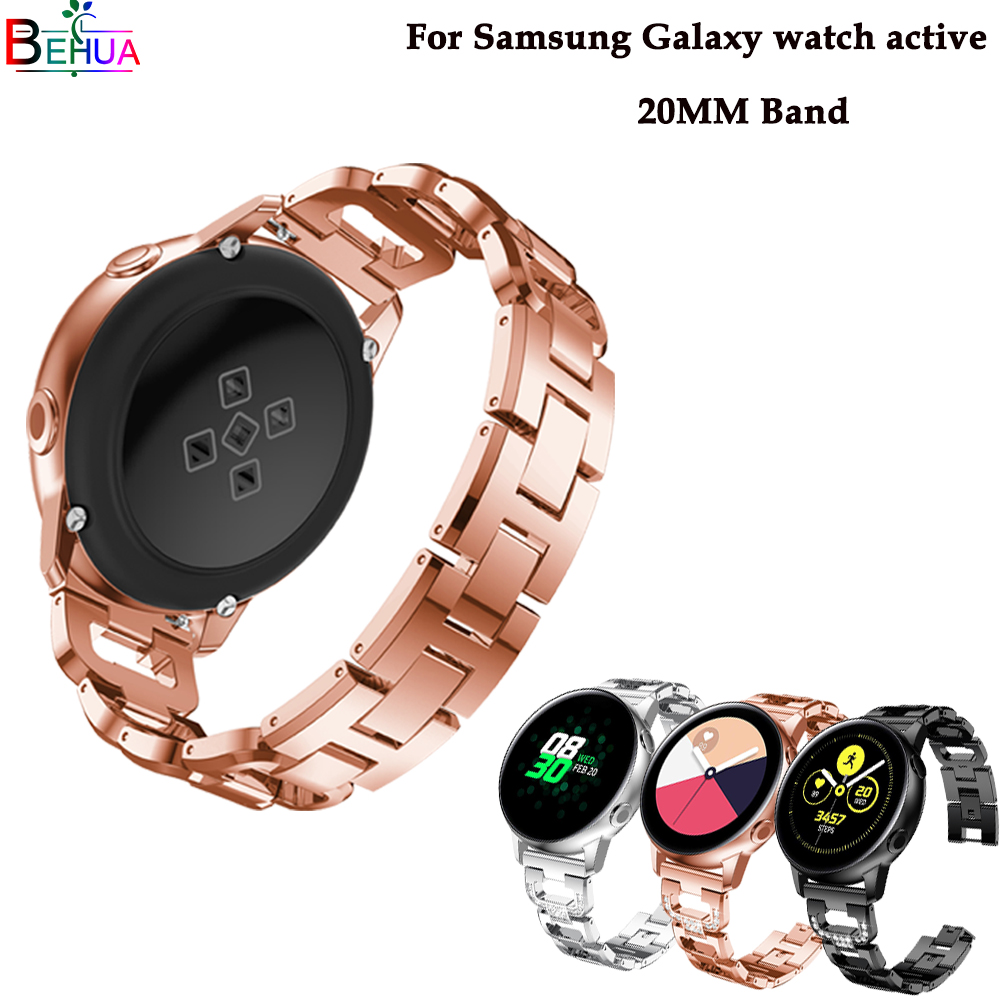 Ms diamond fashion watch band For samsung Galaxy watch active smart watch Replacement wristband For Samsung Gear S2/Galaxy 42mmMs diamond fashion watch band For samsung Galaxy watch active smart watch Replacement wristband For Samsung Gear S2/Galaxy 42mm