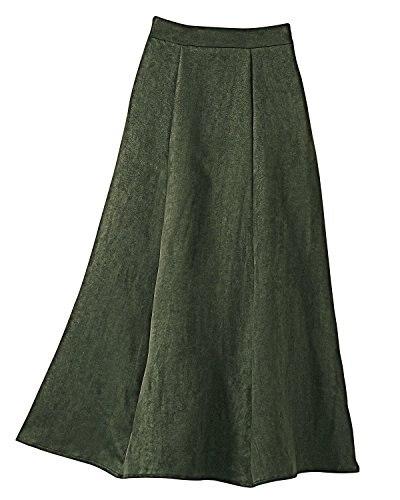 bleu Noir Couture De Personnaliser Pachtwork Green Jupes rouge Jupe Mi Vêtements Longue pourpre army Femmes A Green Automne mollet Faux marron Printemps Casual ligne orange Suede Hiver Simple dark vIHRwI5q