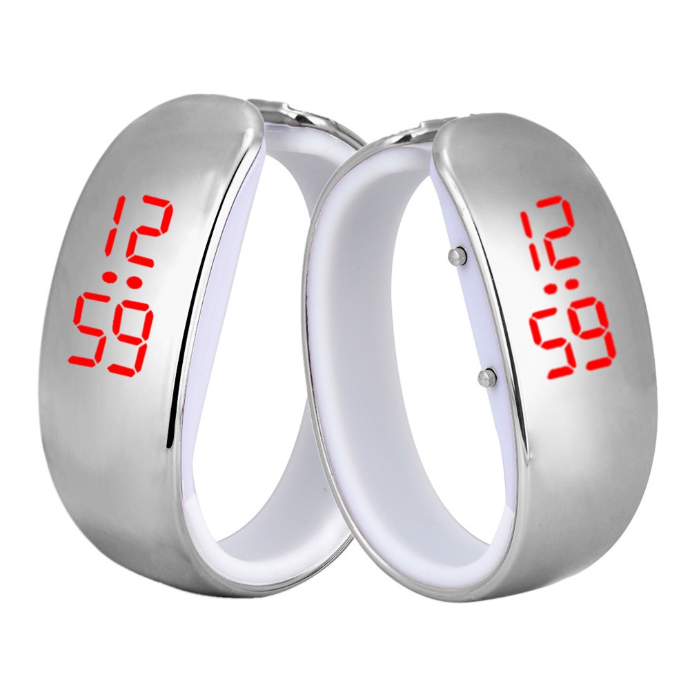 Clock intelligent digital display date outdoor Fashion Women Ladies Sport LED Plating Waterproof Bracelet Digital Wrist Watch