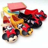 Hot Sale MinI Melissa Ultragirl Mickey Twins II Sandals Toddler Lovely Peep Toe Flat Minnie Flower