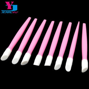 20 Pcs Lot Nail Art Pusher Cut Manicure Care Tool Cuticle Remover Pink Quartz Head