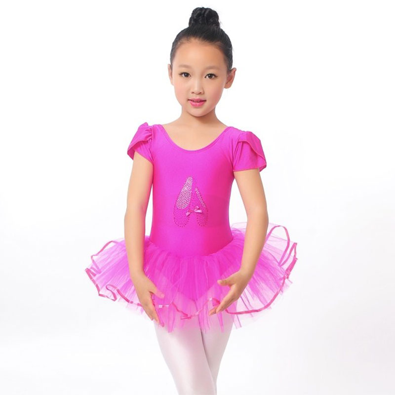 Flower Girls Ballet Dress For Children Girl Dance Clothing Kids Ballet Costumes For Girls Dance Leotard Girl Dancewear 3 Color