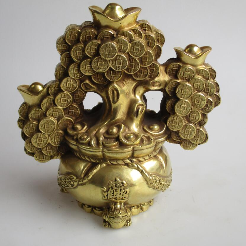 Wedding Decorations/Art Collection Chinese Brass Carved Christmas tree Statue /Home Decoration Feng Shui Money Tree SculptureWedding Decorations/Art Collection Chinese Brass Carved Christmas tree Statue /Home Decoration Feng Shui Money Tree Sculpture