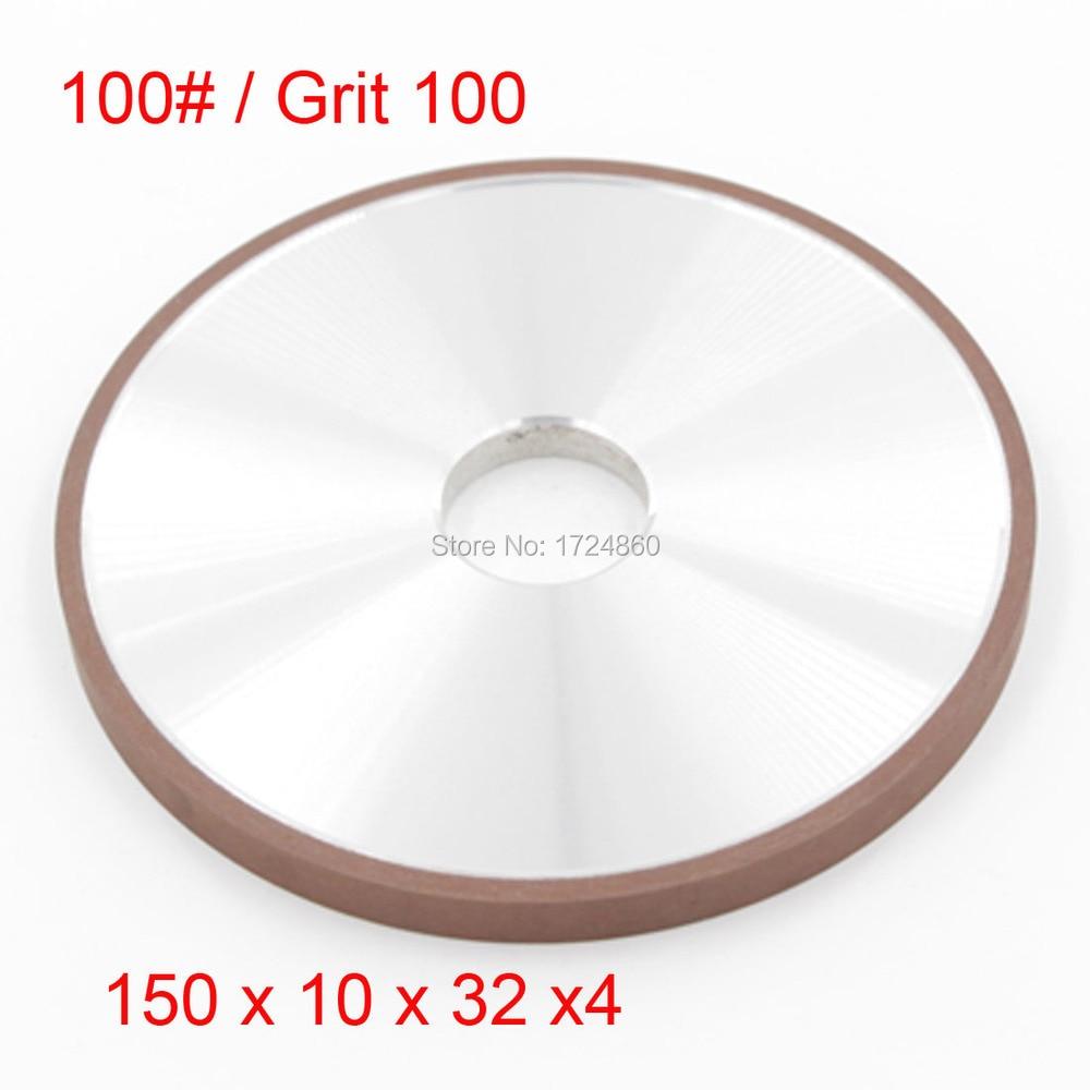 ФОТО 100 Grit Abrasive  Diamond Grinding Wheels Disc China 150mm x 32mm Tools Plain Wheel Coated