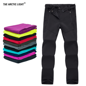 THE ARCTIC LIGHT Thermal Softshell Hiking Skiing Snowboard Camping Ski Pants Waterproof Outdoor Fleece Pants for Women Trousers the arctic light waterproof pants kids outdoor windproof softshell for boys girls blue red winter fleece hiking trouser children