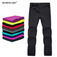 THE ARCTIC LIGHT Thermal Softshell Hiking Skiing Snowboard Camping Ski Pants Waterproof Outdoor Fleece Pants for Women Trousers