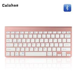 Bluetooth Wireless 78 Chocolate Keys Mini Keyboard Slim Rechargeable / Battery Type Keypad 10M Work Range Keyboard for Tablet