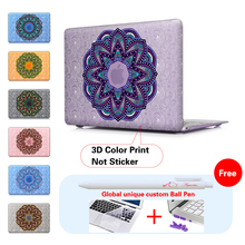 Stack Up Mandala Frosted Protective Case For Apple Macbook Air 13 Pro 13 Retina Case For