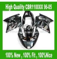100% NUEVO Carenado para Honda CBR1100XX 1996 2005 CBR1100 XX 96 05 CBR 1100XX 96 05 CBR 1100 XX 96 05 kit de carenado negro # SD6LL22