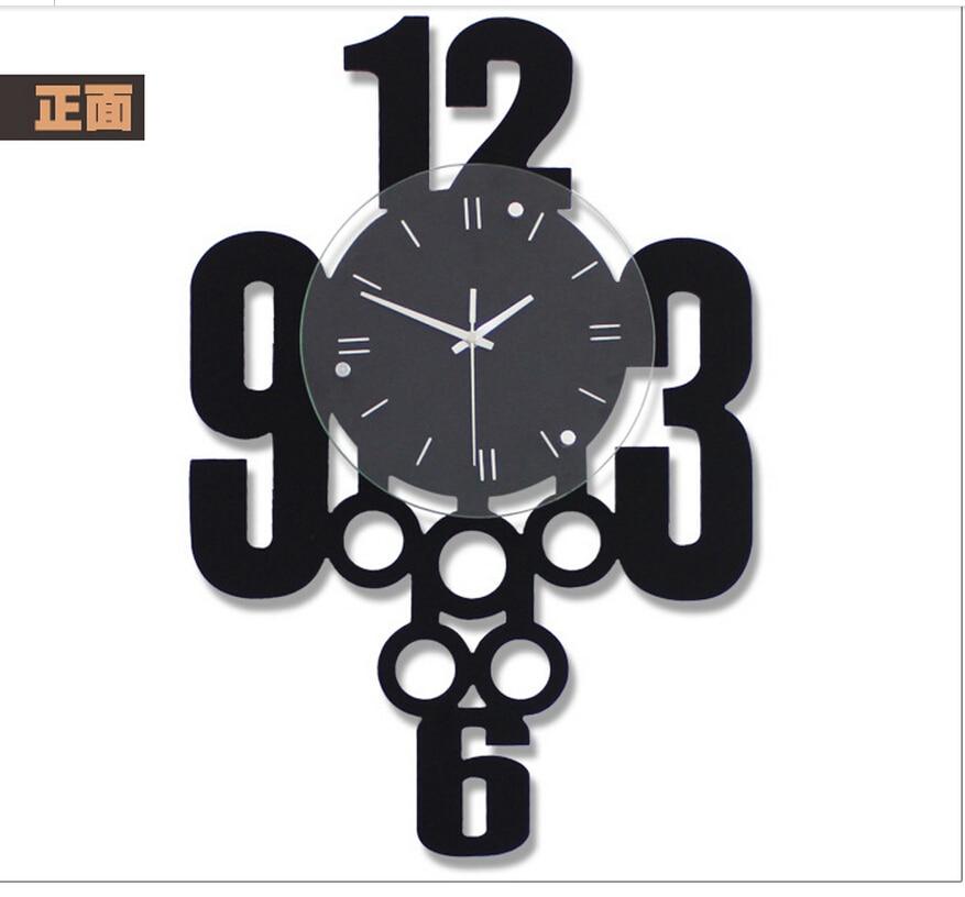 Reloj de pared creativo, contemporánea y contratante personalidad de ...