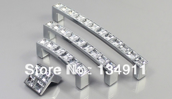 2014 10pcs 16mm Square Acrylic Drawer Handles Crystal