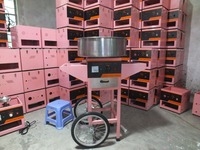 Hot Commercial Sugar manufacturing cheap automatic cotton candy floss machine for sale Cotton Candy Machine With Cart
