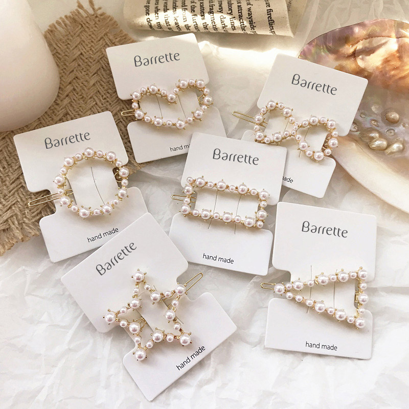Flower Design Barrette Hair Clip French Clip Spring Clip Diamante Feature 10 cms