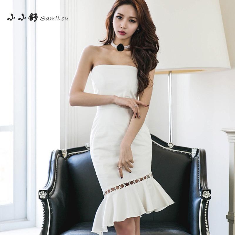Popular Strapless White Sundress-Buy Cheap Strapless White ...