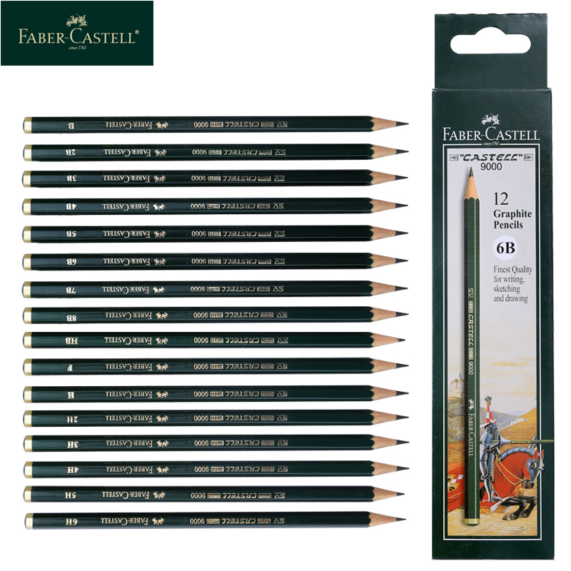 Faber Castell 9000 Professional Drawing Pencils Sketching Drawing Shading Graphite Pencils 16 Degrees Of Hardness For Artist