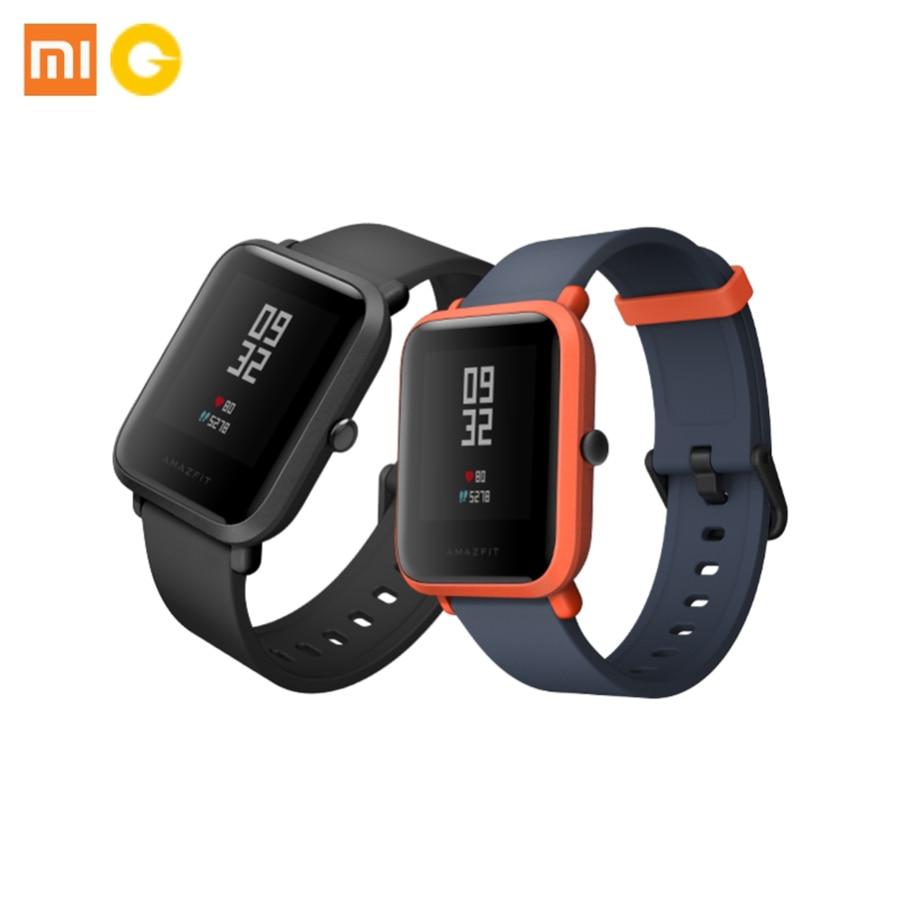 все цены на Xiaomi Huami Amazfit 32g Weight Sport Waterproof  Fitness Traker Tracker GPS  Smart Watch Bluetooth Heart Rate Band Women Men онлайн