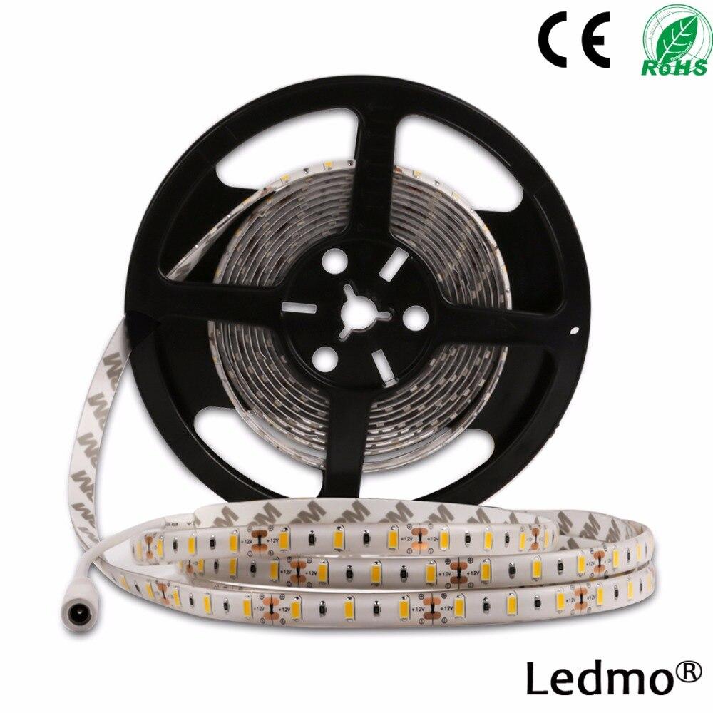 LED elastīga sloksnes gaisma SMD5630 dienasgaismas balta ūdensnecaurlaidīga 60LED / m LED gaismas barošanas saskarne Drošāka un ērtāka par citu