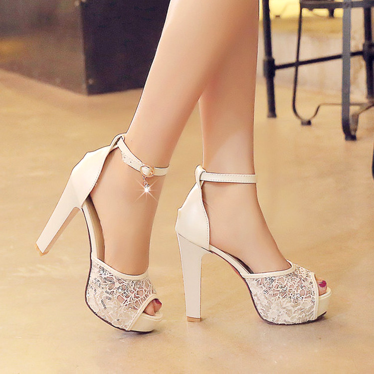 2016 New Summer Women High Heels Sandals Fish Mouth Tide Paltform 12cm Rome Sexy Women Sandals Mesh Coarse Party Shoes 34-42 new listing hot sales summer fashion brand sexy women fish mouth high heels sandals women shoes pumps height 9cm 3603