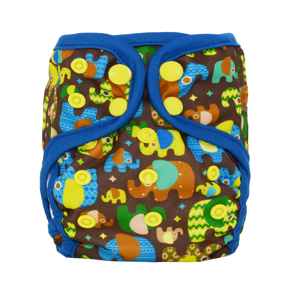 Miababy Newborn Cloth Diaper Cover For NB/ S Baby,double Leaking Guards, Waterproof And Breathable, Fit 0-6months Baby