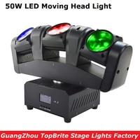 2017 格安価格ポータブル新 50 ワット 3 ヘッド移動ヘッドライトミニ LED 3 × 12 ワット RGBW 4IN1 ビームライト良質高速配送