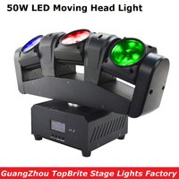 2017 Cheap Price Portable NEW 50W 3 Heads Moving Head Light Mini LED 3X12W RGBW 4IN1