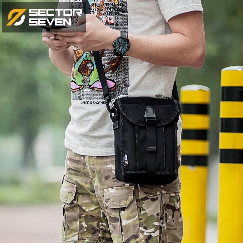 Mother & Kids Sector Seven Mens 1000d Nylon Casual Briefcase Solid Men Tactical Handbags