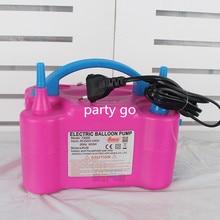 Высокое напряжение двойное отверстие AC надувной электрический воздушный шар насос портативный воздушный вентилятор