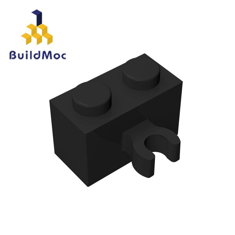 BuildMOC Compatible Assembles Particles 30237b Brick Modified 1x2 Vertical Clip Building Blocks Part DIY  Educational Tech Toys