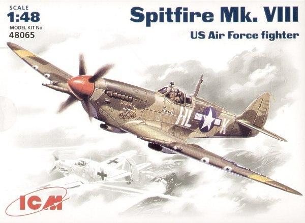 ICM 48065 Spitfire Mk. VIII DA SEGUNDA GUERRA MUNDIAL lutador USAF 1/48 kit modelo de plástico avião