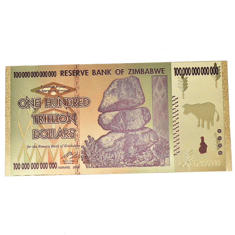 USA Gold Plated Paper Money Non Currency Collection Gifts Crafts Banknotes/Zimbabwe Gold Foil Banknote