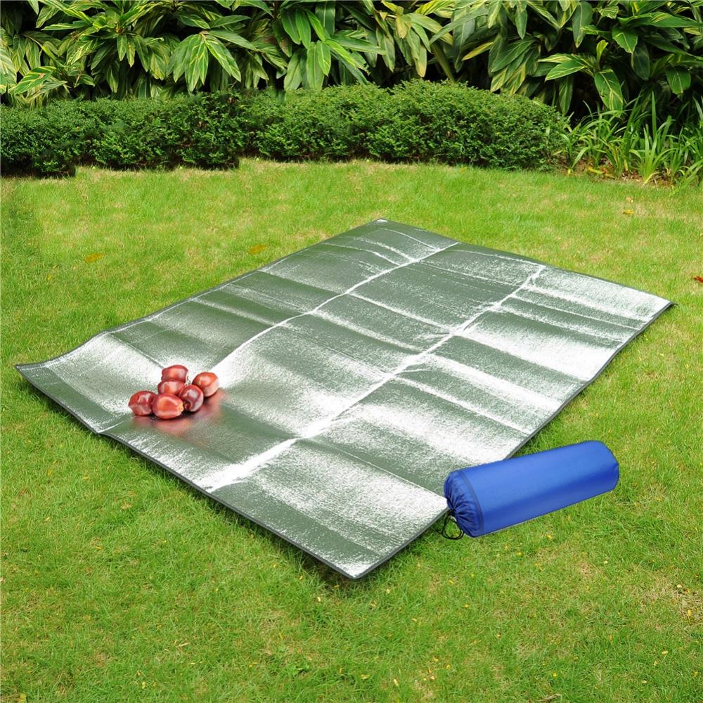 High quality Multiplayerpvc aluminum film moisture pad 2 * 2M side tent moisture pad picnic mat sleeping pad