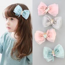 Boutique Handmade fairy hair clip 11.5cm Korean chiffon hair bow styling hair accessories for kids girls children headwear цена