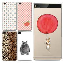Strip Soft Clear TPU Phone Case For huawei P10plus P8 P9lite honor 3c 4c 6a 7 8 9 5c Coque Leopard Coque Shell Bag Free Shipping(China)