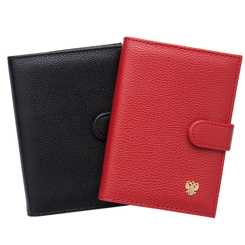 Card & Id Holders Coin Purses & Holders Russian Oil Soft And Solid Brown Double Eagle Travel Passport Holder Built In Rfid Blocking Protect Personal Information To Rank First Among Similar Products