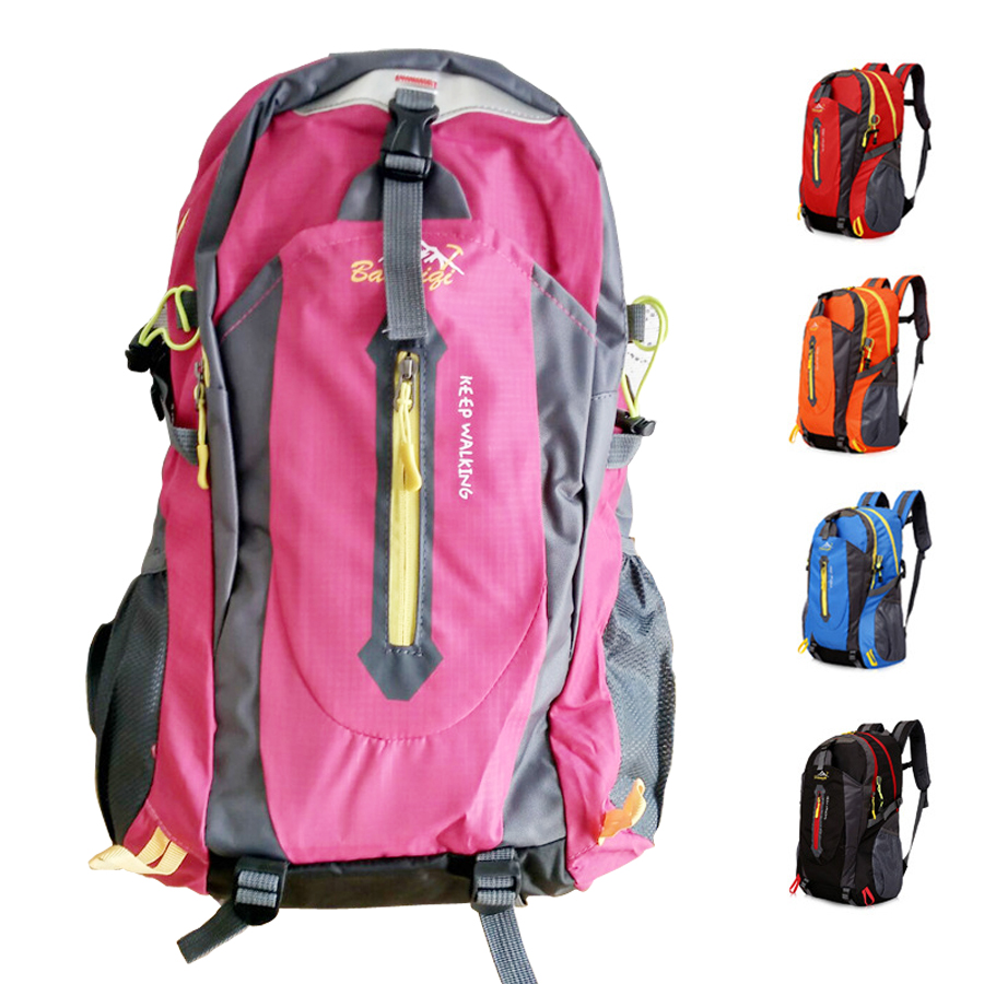 30L 40L 50L Sport Backpack With Rain Cove Waterproof Gym Bag Climbing Hiking Traveling For Men Women Pink Outdoor Bicycle sac de huwaijianfeng 50l outdoor sport traveling climbing backpack multifunctional hiking bag