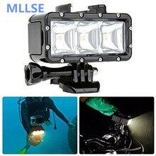 GoPro flashLight lamp Underwater Diving Waterproof LED Flash Video Mild Mount For Go Professional Hero four/three+,SJCAM SJ4000 H9 H9R