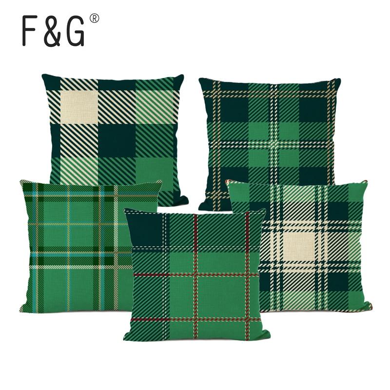 Inglês cheque capa de almofada impressão geométrica família sofá assento de carro capa de almofada família decoração para casa jogar travesseiro