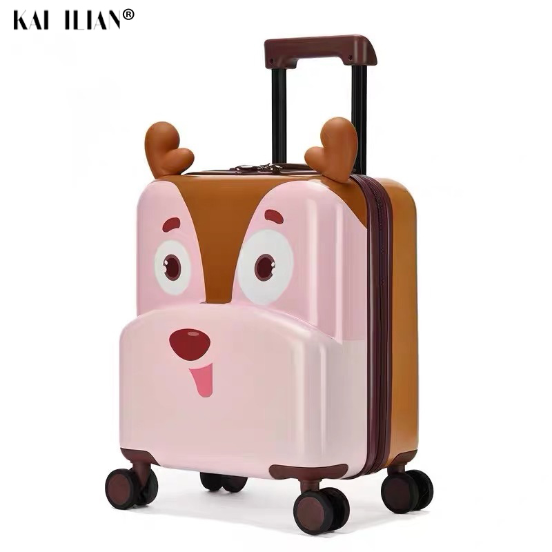 Cute Cartoon Children Rolling Luggage Spinner Multifunction Ride Sit Suitcase Wheels 20 Inch Student Cabin Trolley Luggage Kids