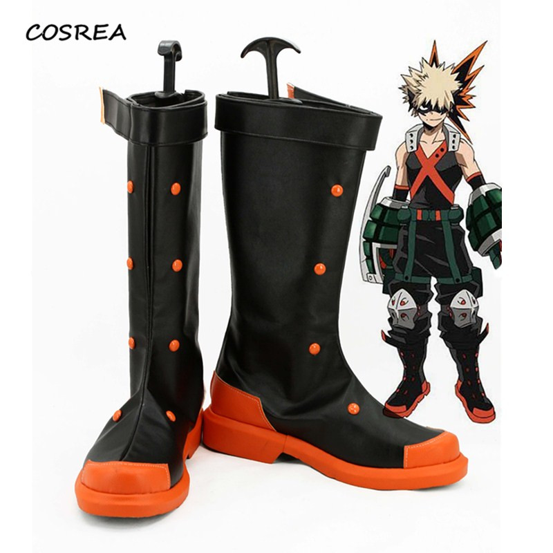 Boku no Hero Academia Bakugou Katsuki Men Cosplay costumes Anime My Hero Academia pro boots Halloween Party Props Custom Made