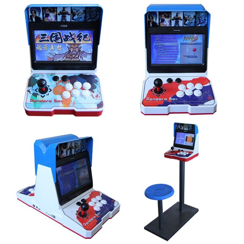 Commercio all'ingrosso 1or 2 giocatori di 10 pollici Schermo LCD mini bartop giochi arcade macchine pandora box kit console di gioco 1500 in 1