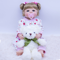 55CM blue eyes Babies Princess Dolls Bebe gift Reborn Bonecas Brinquedos Real alive Full Body Silicone Girl Reborn Baby Doll Toy