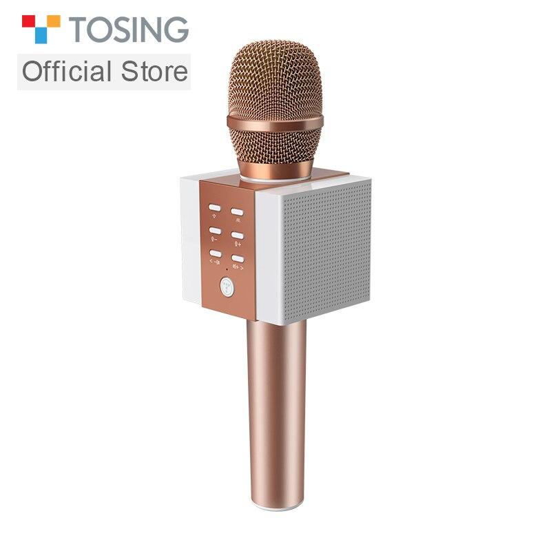 2019 nouveau microphone de karaoké sans fil portable bluetooth professionnel le plus populaire pour téléphone portable/TV support de chant carte TF