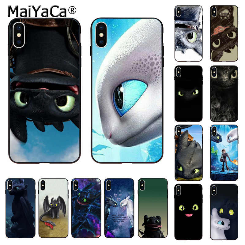 MaiYaCa Toothless How To Train Your Dragon Silicone TPU Phone Cover for iphone 11 pro 8 7 66S Plus X XS MAX 55S SE XR Cases