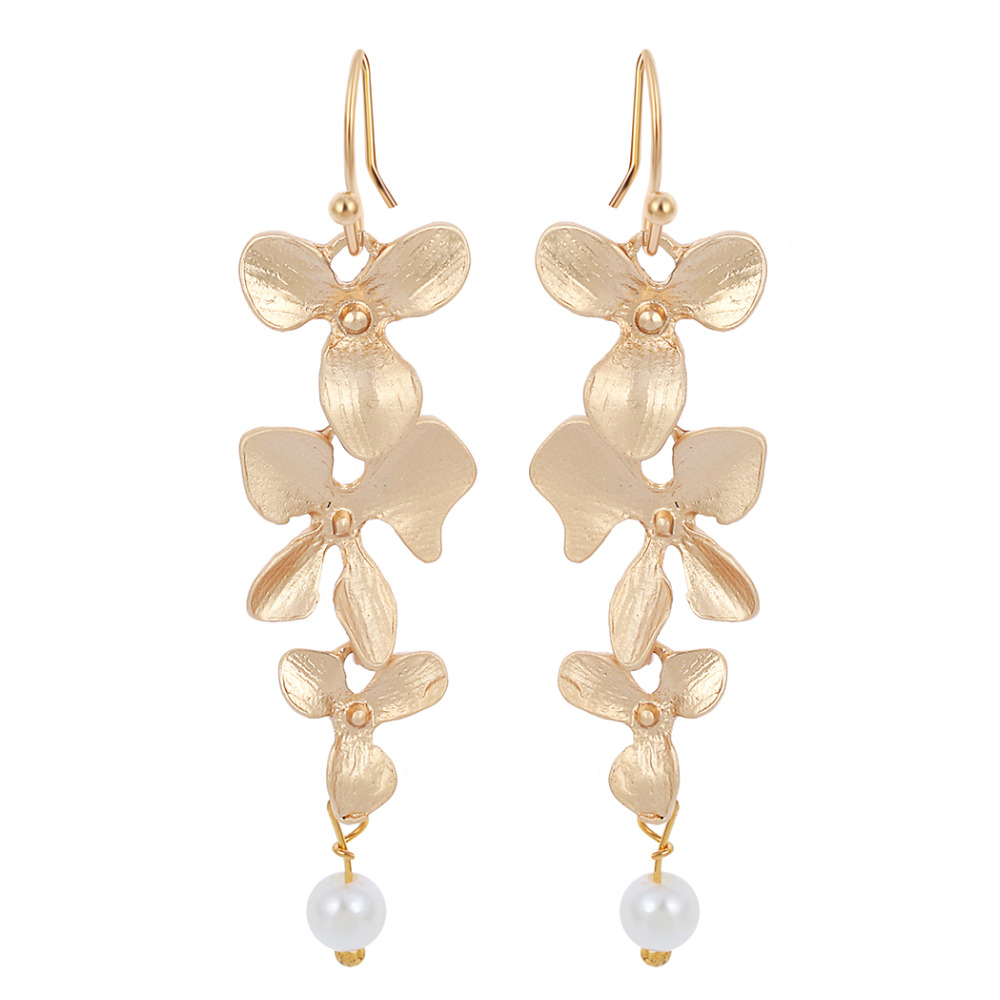 Kinitial 30pair Gold Silver Plated Orchid Earrings For Girl Statement  Earrings For Women Fashion Jewelry(