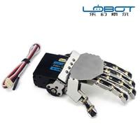 Diy robot merchanical mano cripper con 1 servo sinistra/destra umanoide dito manipolatore cinque dita