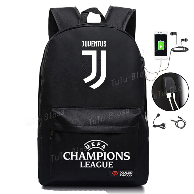 New Arrival Juventus Backpack For Student Back To School Bag Bookbags For Teens Boys And Girls Book Bag Juventus Fans Bags H249